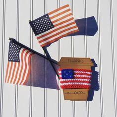 American flag, crochet coffee cozy, coffee cozy, coffee mug, America, coffee lover    personal favorite from my Etsy shop https://www.etsy.com/listing/400131973/american-flag-coffee-cozy-crochet-coffee