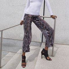 Spotted while shopping on Poshmark: Python print cropped pant! #poshmark #fashion #shopping #style #Dress Barn #Pants