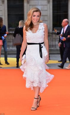 Ultra glamorous: Katherine Jenkins was elegant as ever when she attended the Royal Academy of Arts Summer Exhibition VIP preview, held in central London on Wednesday night