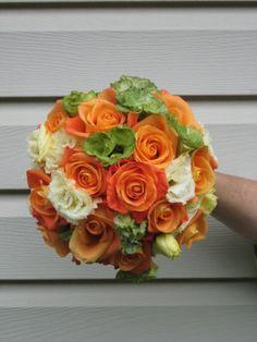 Orange green bouquet wedding - Wedding Inspirations