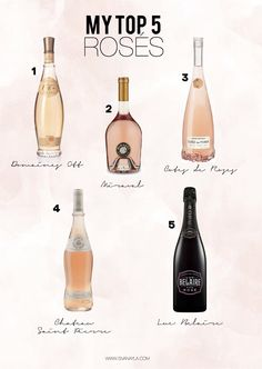 I can get a little bougie when it comes drinking rosé. That's not true. I can be very bougie when it comes to drinking (alcohol). Best Wine To Drink, Wine Drinks, Alcoholic Drinks, Beverages, Drinks Alcohol Recipes, Wine Recipes, Yummy Drinks, Best Rose Wine, Wine Chart