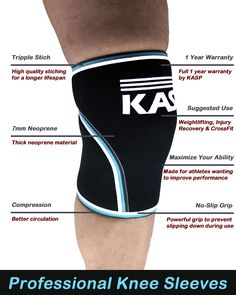 Learn more about what the best knee sleeves can do for you. #kneesleeves #kneesleeve #injury #preventinjury #crossfit #workout  http://www.amazon.com/dp/B01AO53KP2
