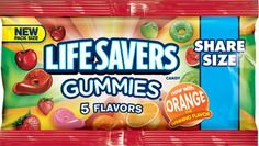 Lifesavers Gummies 5 Flavors Share Size Super Store Online Brows Shop Buy at www. Hard Candy, Life Savers, All Brands, Bubble Gum, Pop Tarts, Peppermint, Snack Recipes, Bubbles, Store Online