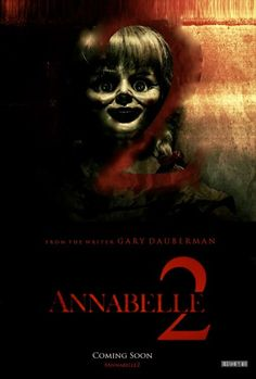 """""""Several years after the tragic death of their little girl, a dollmaker and his wife welcome a nun and several girls from a shuttered orphanage into their home, soon becoming the target of the dollmaker's possessed creation, Annabelle."""""""