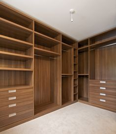 Custom walk-in wardrobe red plum, completed by our member Custom Creations…