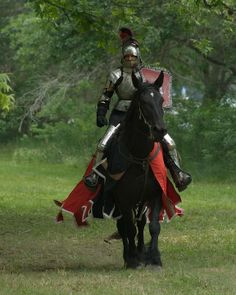 Jousting horse Captain and his jouster Federico Serna (photo by AzulOx)