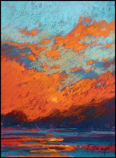 Terri Ford pastel - wow just love the orange