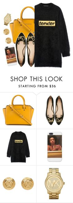 """""""✨""""Tender""""✨👅"""" by jchristina ❤ liked on Polyvore featuring MICHAEL Michael Kors, Kate Spade, Alexander Wang, Versace and Michael Kors"""