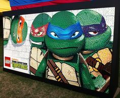 LEGO® Teenage Mutant Ninja Turtles Mosaic built with help from our guests!
