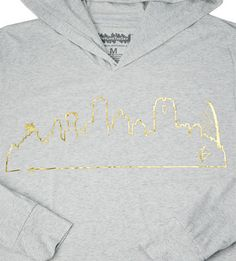 Grab our lightweight hoodie for those chilly Texas nights! Throw it on over your favorite tee/tank or wear it by itself, you can't go wrong!  #OutlineTheSky #RepYourCity #CoverTheCountry #DallasSkyline