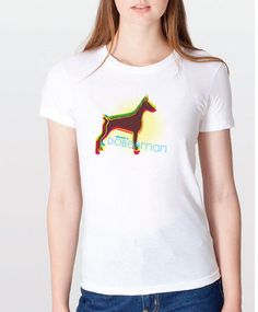 Rescued by a Doberman - Righteous Hound - Women's Rainbow Doberman Tee, $24.00 (http://www.righteoushound.com/womens-rainbow-doberman-tee/)