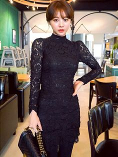 jihyun_imvelyさんの「ボディコンレースワンピース(imvely)」を使ったコーディネート Korean Fashion, Formal Dresses, Cute, How To Wear, Outfits, Outfit, Suits, Clothes, Style