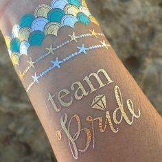 Mermaid bachelorette party tattoos | Mermaid bachelorette party ideas | Mermaid bachelorette party supplies