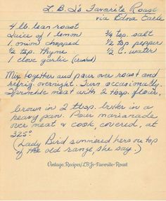 Old recipes dinners casseroles yummy casseroles awesome casseroles pierogi recipe casseroles delicious casseroles saurkraut recipes; Retro Recipes, Old Recipes, Vintage Recipes, Dinner Recipes, Meat Cooking Times, Cooking Lamb, Cooking Bacon, Cooking Oil, Cooking Light