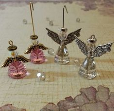 How to make Crystal Angel Earrings with the Swarovski Dome bead