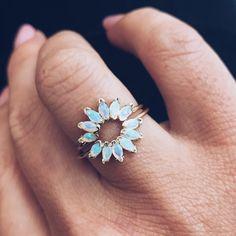Opal Caribbean Sunrise Ring