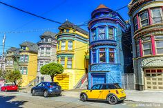 Row Victorian Houses In The Haight, San Francisco  www.mitchellfnk.com