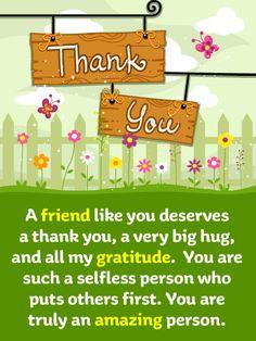 Appreciation Card Eco-Friendly Packaging Fortunate Thank You Card \u2014 Thanks Card Thank You So Much Friendship Card