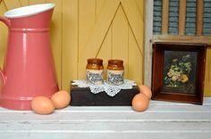 Vintage Home Sweet Home Brown Stoneware Salt and di TheUrbanBarn