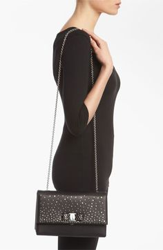 Salvatore Ferragamo 'Louvre Ginny - Mini' Leather Shoulder Bag