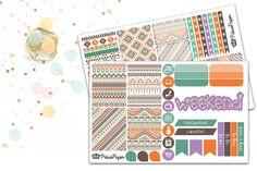 Planner Sticker Weekly Kit Aztec for your Erin Condren Life Planner, Plum Paper…