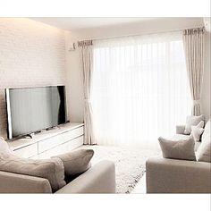Lounge/ソファ/間接照明/エコカラット/ホワイト/新築...などのインテリア実例 - 2017-12-27 04:22:05