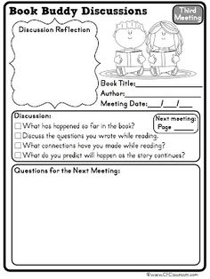 Clutter-Free Classroom: Tips for Managing Book Buddies: Book Clubs and Reading Partnerships in the Classroom {printables, Literature Circles, Text-Based Discussion}Common Core Reading} Reading Buddies, Reading Club, Teaching Reading, Guided Reading, Reading Response, Reading Groups, Teaching Ideas, Learning, Close Reading