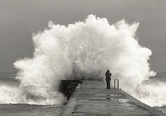 A wave crashes...