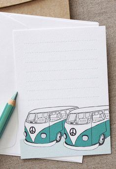Kombi Note Card Set 5 Pack | I need to make some stationary/note cards.
