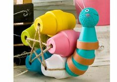 clay pot crafts for the garden | This adorable Clay Pot Snail is made with FolkArt Paint and will be a ...