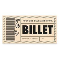 Tampon bois 'Kesi'Art' Billet - La Fourmi creative Tampons Transparents, Document, Scrapbooking, Journal Pages, Project Life, Album, Bullet Journal, Printables, Graphic Design