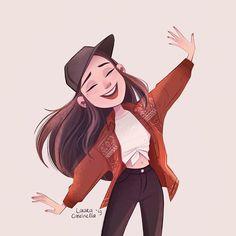 Joining I love her art its so beautiful! Cute Art Styles, Cartoon Art Styles, Cartoon Drawings, Cute Drawings, Character Illustration, Illustration Art, Graphic Illustrations, Arte Do Kawaii, Cute Girl Drawing
