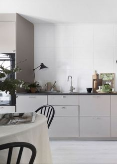 Die 11 Besten Bilder Von Kuche Ohne Hangeschranke Grey Kitchens