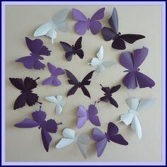 Carnet d'inspiration mariage Mademoiselle Cereza papillons deco mariage violet argent parme gris