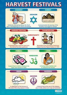 From our Religious Education poster range, the Harvest Festivals Poster is a great educational resource that helps improve understanding and reinforce learning. Religious Books, Religious Studies, Religious Images, Religious Education, British Values, Teaching Religion, Fall Preschool, School Posters, World Religions