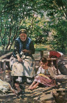 Vladimir Makovsky  Бабушка и внучка