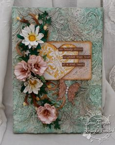 Springtime Die Cuts at Frilly and Funkie - Jenny Marples - Pushing The Right Buttons