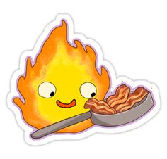 """Calcifer Sticker"" Stickers by KaitlynLister 