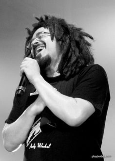 My picture of Adam Duritz of Counting Crows from their daytrotter.com Barn on the Fourth show at Codfish Hollow Barn in Maquoketa, IA. I attended with 650 of my closest friends! :-)