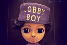 Little Big Eyes Dolls are great for custom Boys for Blythe - by MyDeliciousBliss, inspired by The Grand Budapest Hotel, Wes Anderson Lobby Boy, Grand Budapest Hotel, Vinyl Toys, Doll Crafts, Big Eyes, Custom Art, Art Dolls, Bliss, Bunny