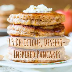 These apple pie pancakes look incredible. Get the recipe on WomansDay.com!