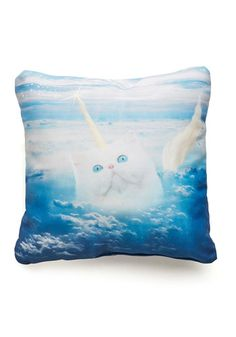 The Last Mew-nicorn Pillow - Multi, Cats, Better, Print with Animals, Quirky @lauratomasella
