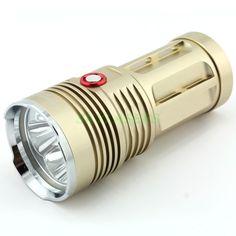Uniquefire King 4*Cree XM-L2 2-Modes 5000-Lumen Desert Yellow color Led Flashlight Torch (4*18650)
