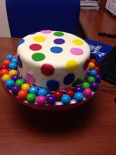 Gum ball cake