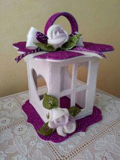 Felt lanterns - Give Details Cd Crafts, Diy Crafts For Gifts, Diy Home Crafts, Holiday Crafts, Crafts For Kids, Paper Crafts, Foam Sheet Crafts, Foam Crafts, Christmas Lanterns
