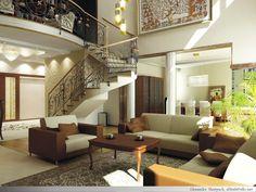 Phòng khách cầu thang - mẫu 5