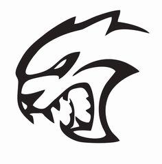 $1.99 - Hellcat Dodge Challenger Vinyl Die Cut Car Decal Sticker - Free Shipping #ebay #Home & Garden Motorcycle Decals, Branding Design, Logo Design, Scroll Saw Patterns Free, Dodge Challenger, Cool Logo, Car Stickers, Art Logo, Rock Art