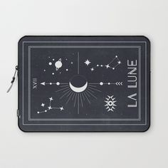 The Moon or La Lune Tarot Laptop Sleeve by cafelab | Society6