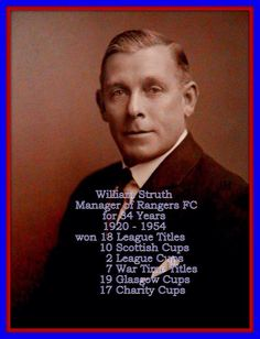 William struth The Boss He Was The Most Successful Rangers Boss . Rangers Football, Rangers Fc, Glasgow Scotland, Football Pictures, Chefs, Boss, Prince, Club, Sports