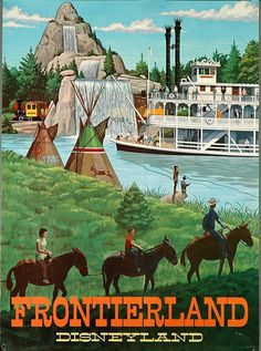 Disneyland Park Anaheim Vintage Disney Frontierland California United States of America Travel Advertisement Art Poster Print. Poster measures 10 x inches. Disneyland Vintage, Disneyland Paris, Vintage Disney Posters, Retro Disney, Disneyland California, Disneyland Resort, Vintage Travel Posters, Disney Love, Vintage Mickey
